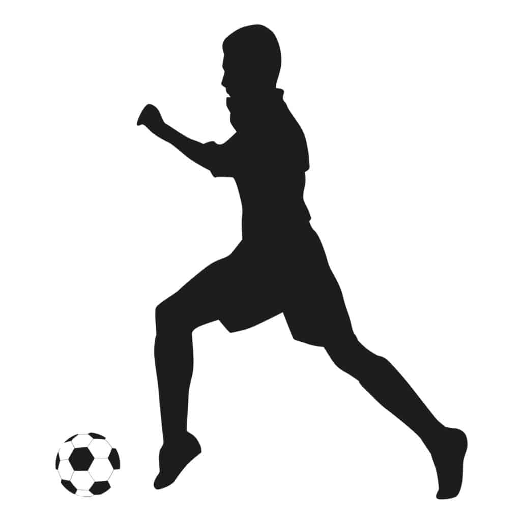 Soccer player- Stand on front of foot and not on heel